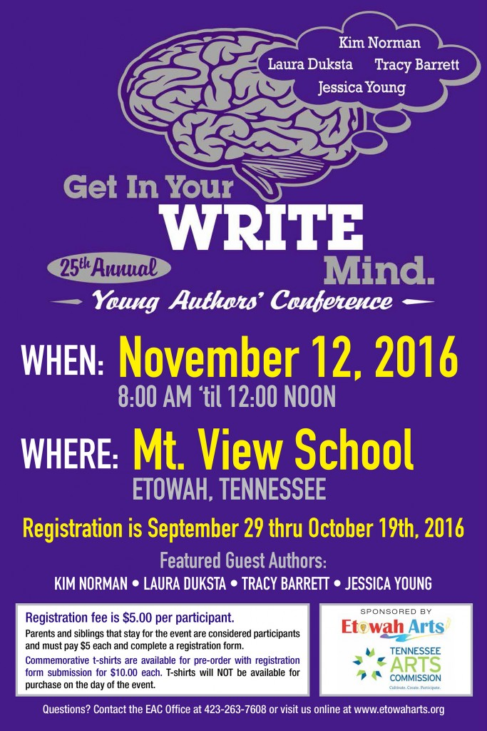 Coming soon - the 25th Annual Young Authors' Conference. For all young readers, grades K - 8