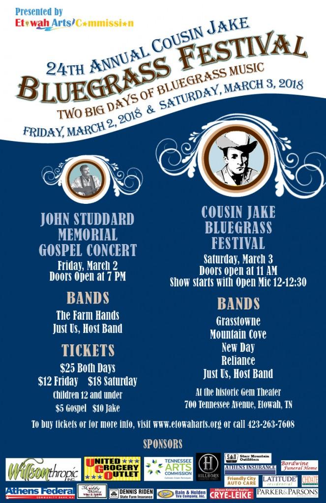"""""""Cousin Jake' Tullock Memorial Bluegrass Festival 2018"""